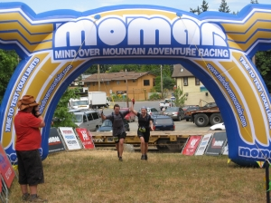 Crossing the Finish of the Short Course MOMAR Race on July 26th, 2008
