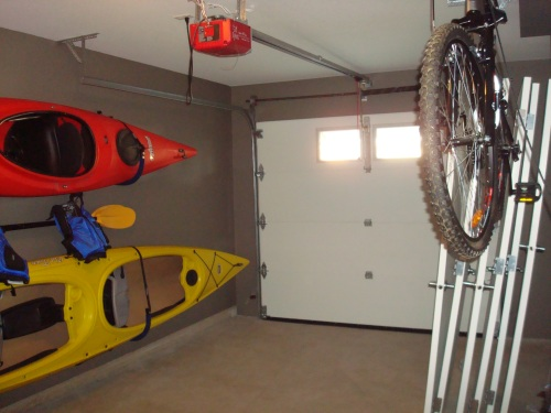 The garage of my dreams... place for kayaks and bikes
