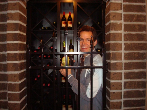Wine Cellar... can't remember which builder had this in their basement but we had some fun with it.