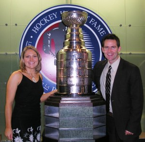 Dave, Julie & Lord Stanley at the Hockey Hall of Fame in Toronto