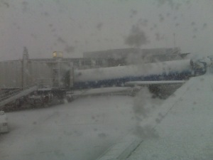 Denver airport snowstorm
