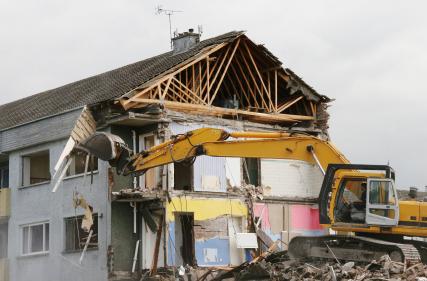 bulldoze house