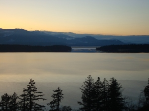 The gorgeous view we enjoyed when staying on Salt Spring Island