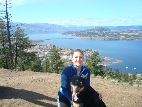Bram and I on Knox Mountain in Kelowna where we were doing market research for potential purchases (click for the latest details)