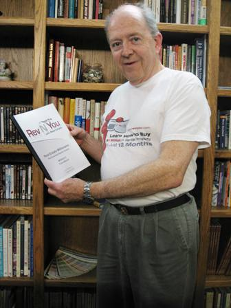 Here's my Father In Law sporting our Rev N You T-Shirt!! And he's holding up one of our course modules! Thanks Rick!